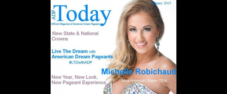 Michelle gets the cover of American Dream Pageants Magazine